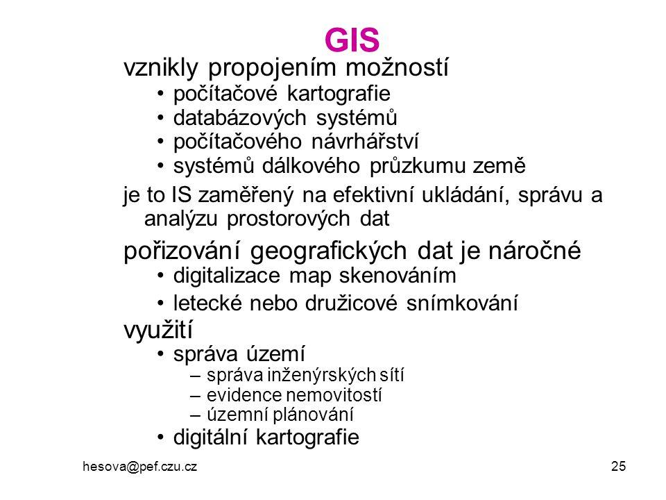 GIS vznikly propojením možností