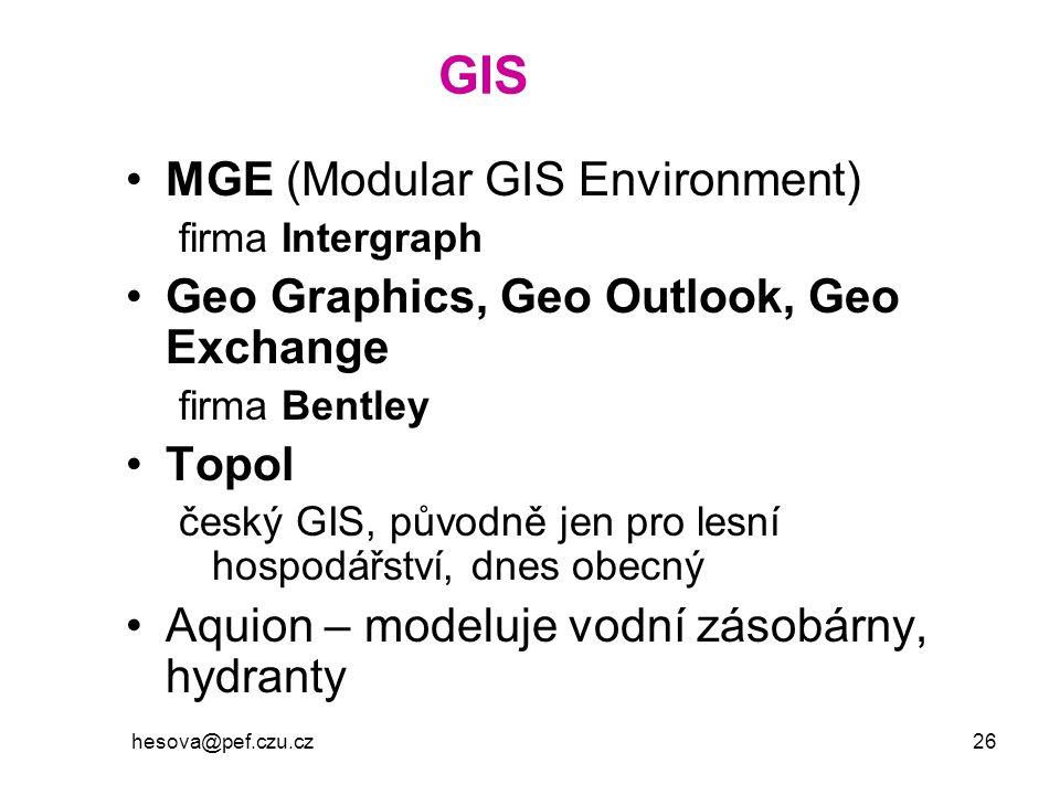GIS MGE (Modular GIS Environment)