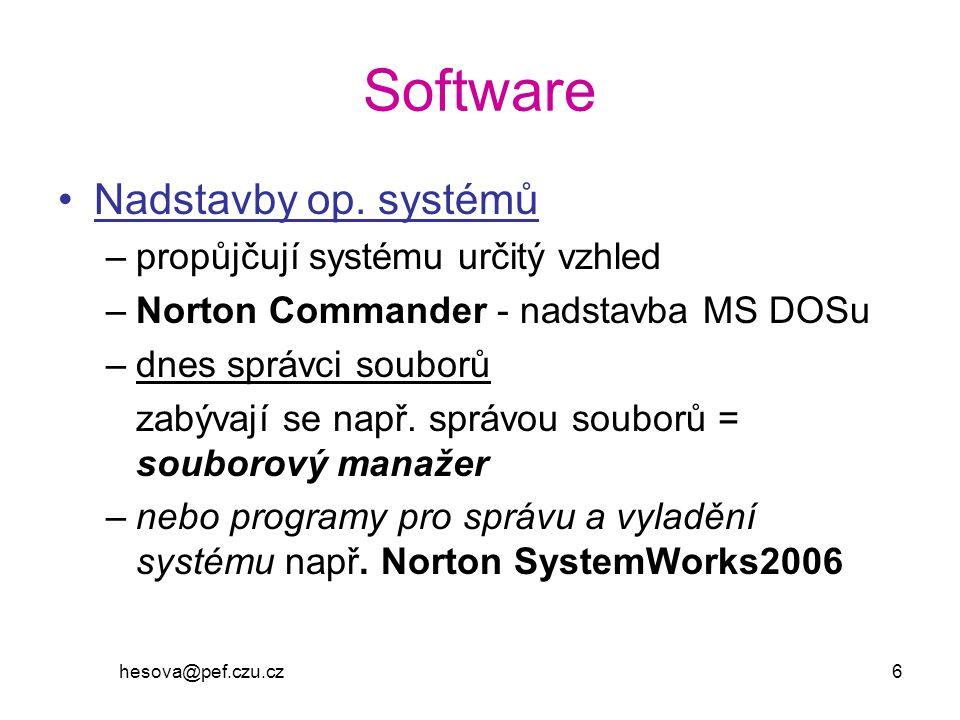 Software Nadstavby op. systémů propůjčují systému určitý vzhled