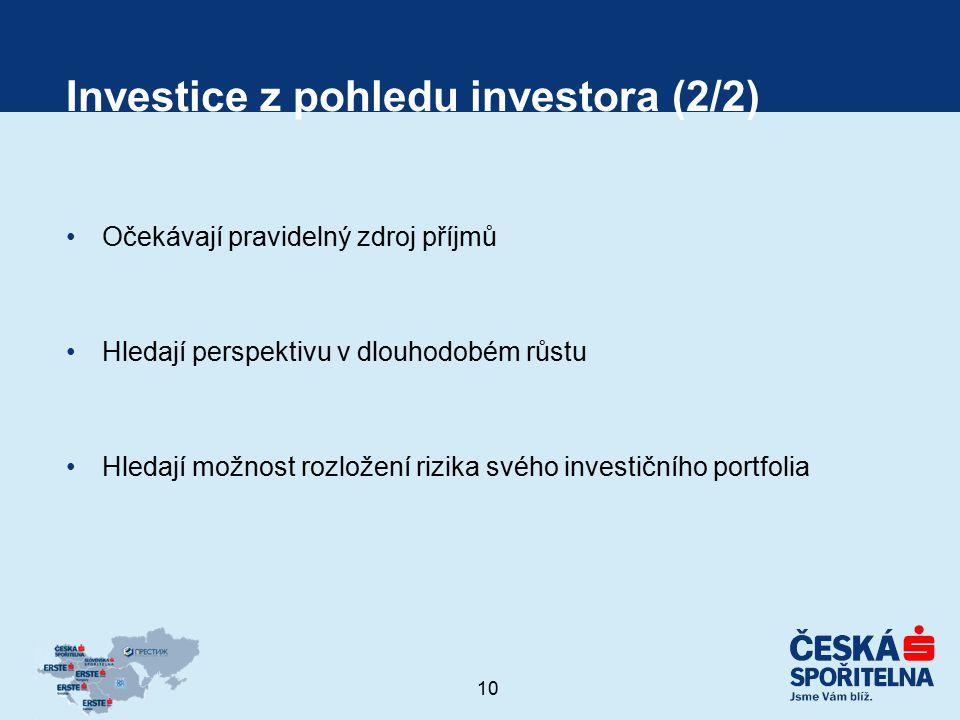 Investice z pohledu investora (2/2)
