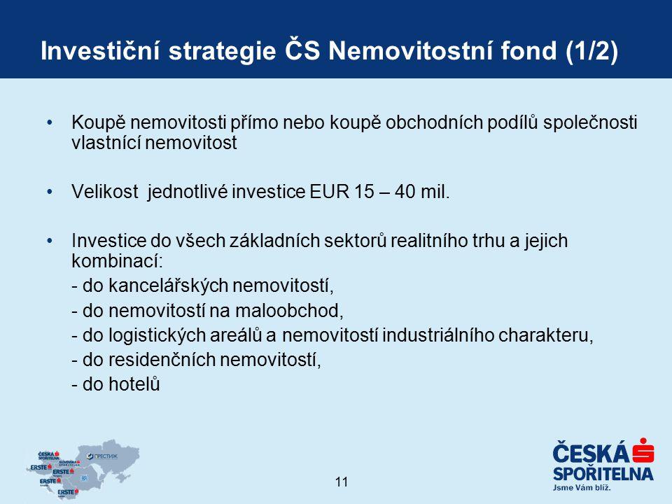 Investiční strategie ČS Nemovitostní fond (1/2)