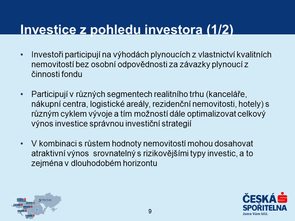 Investice z pohledu investora (1/2)