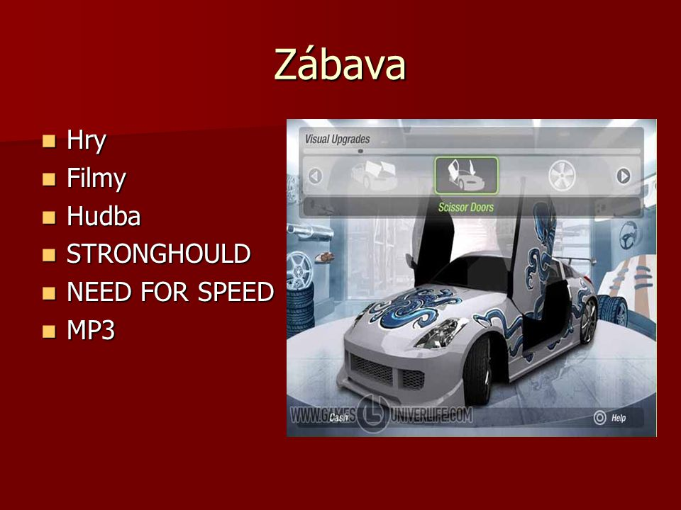 Zábava Hry Filmy Hudba STRONGHOULD NEED FOR SPEED MP3