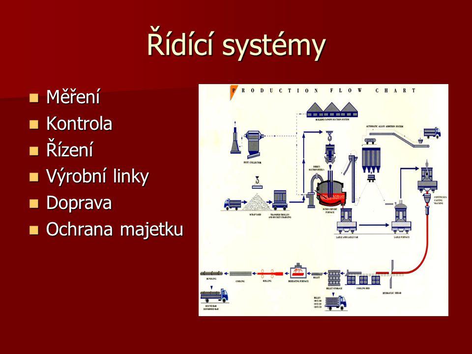 Řídící systémy Měření Kontrola Řízení Výrobní linky Doprava