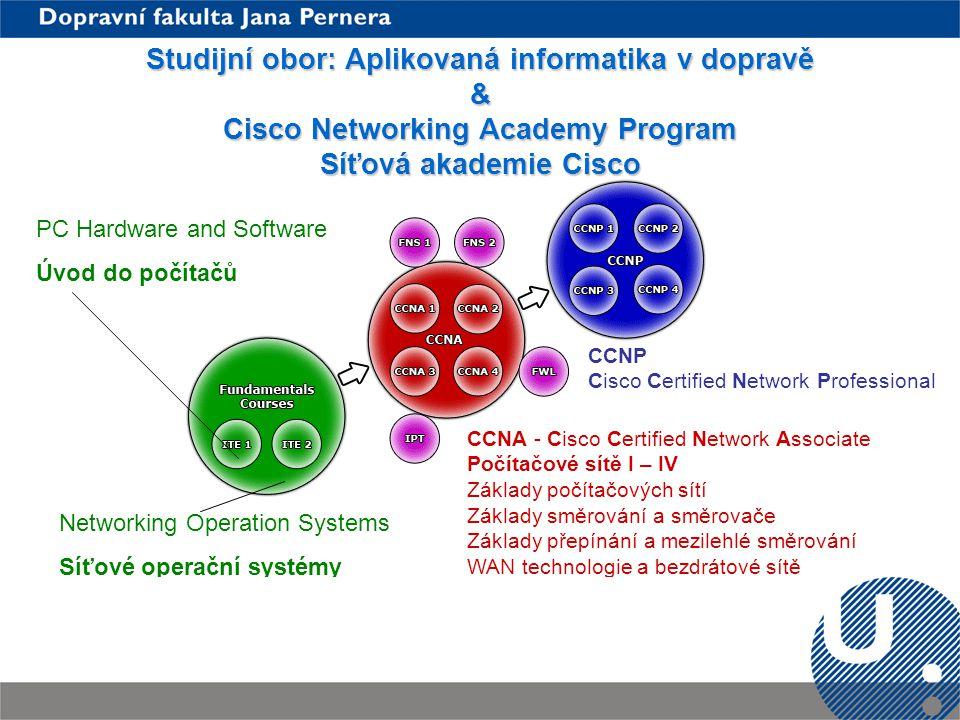 Studijní obor: Aplikovaná informatika v dopravě & Cisco Networking Academy Program Síťová akademie Cisco