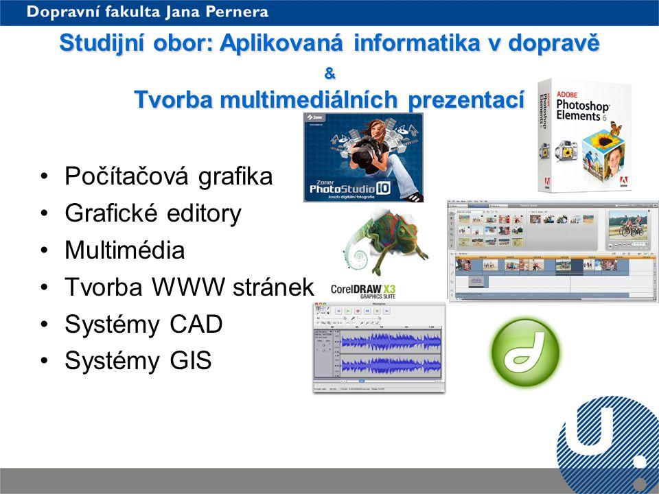 Počítačová grafika Grafické editory Multimédia Tvorba WWW stránek