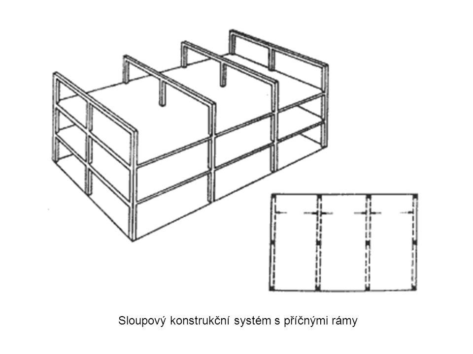 Sloupový konstrukční systém s příčnými rámy