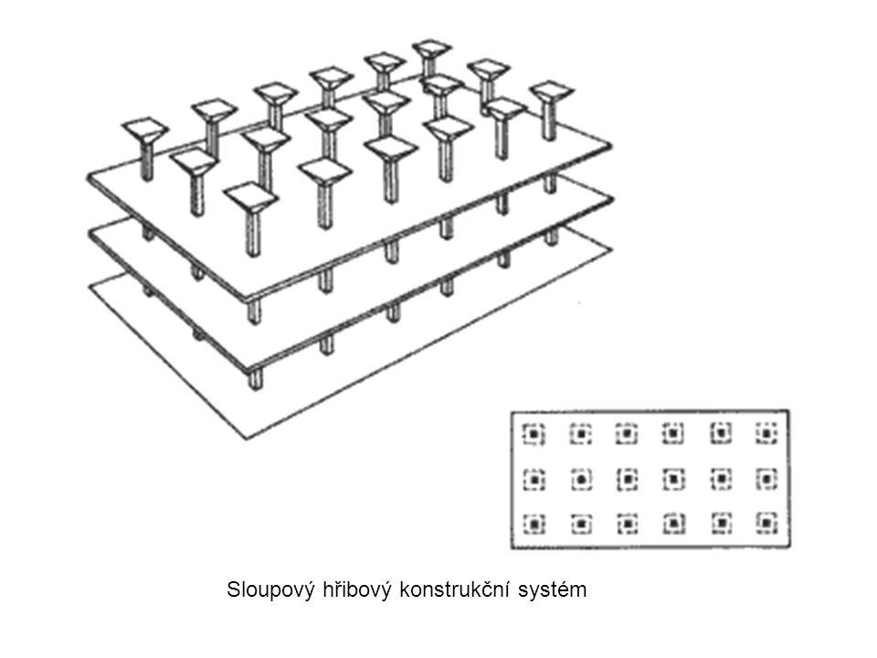 Sloupový hřibový konstrukční systém