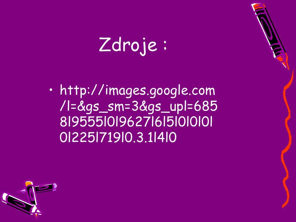 Zdroje : http://images.google.com/l=&gs_sm=3&gs_upl=6858l9555l0l9627l6l5l0l0l0l0l225l719l0.3.1l4l0