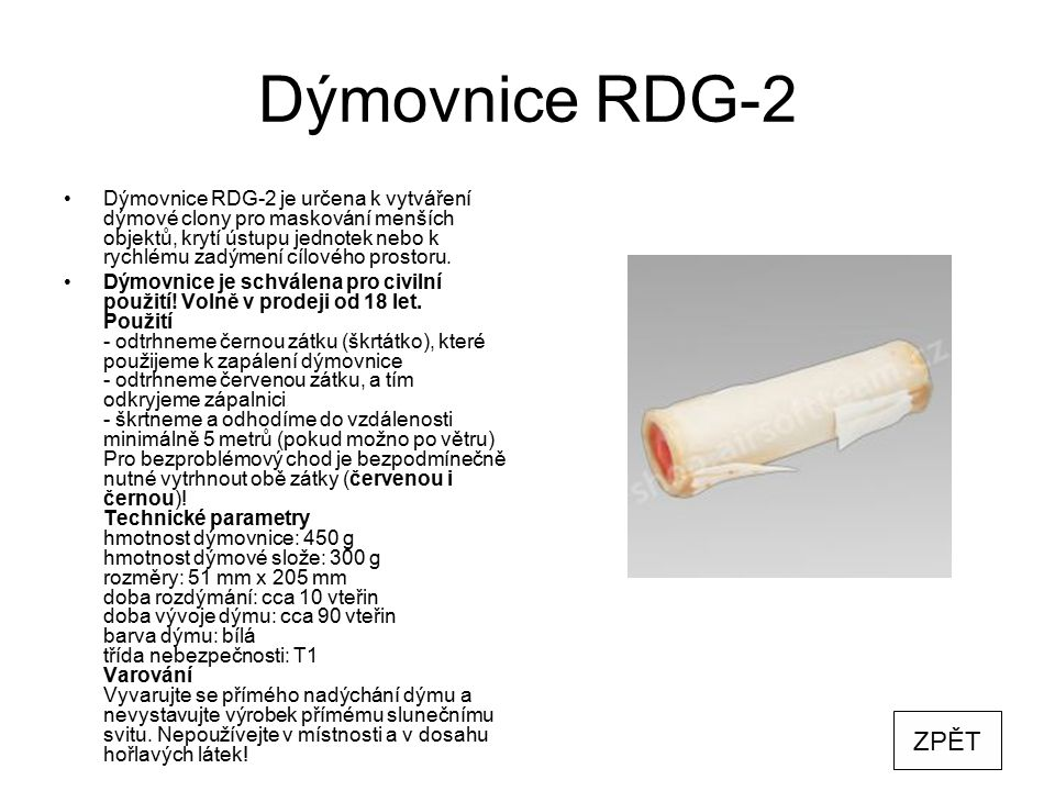 Dýmovnice RDG-2