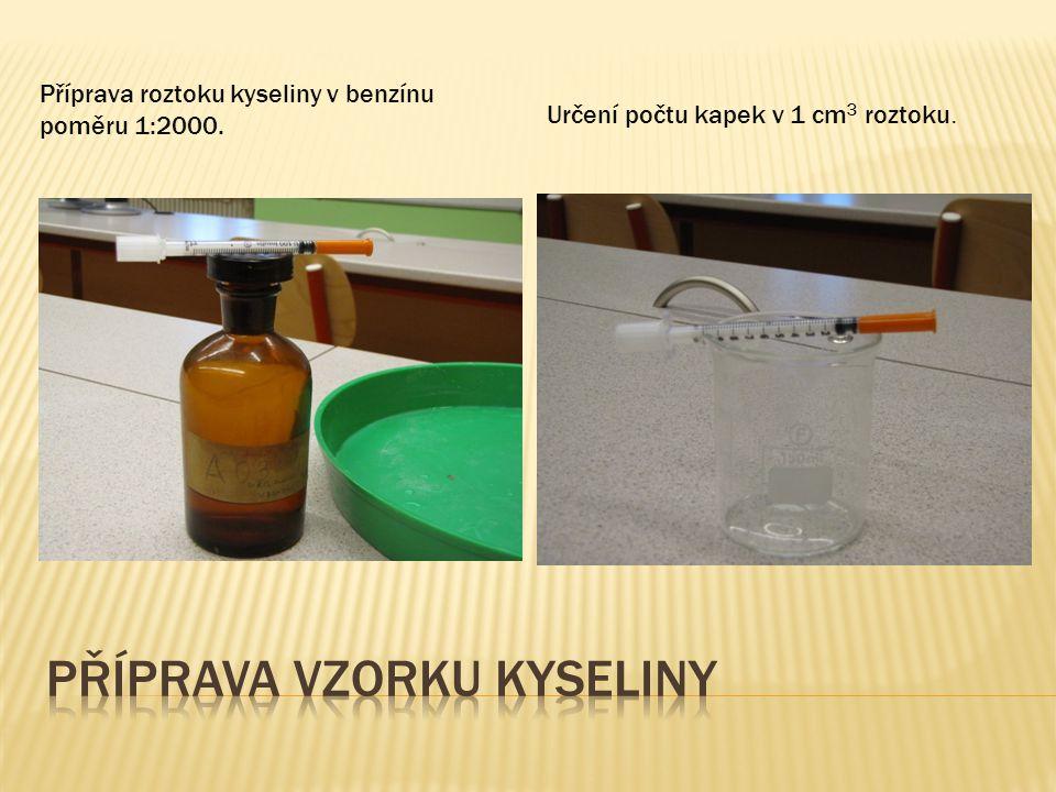 Příprava vzorku kyseliny