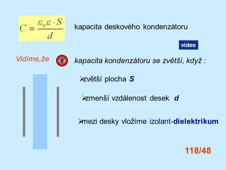 118/48 kapacita deskového kondenzátoru Vidíme,že