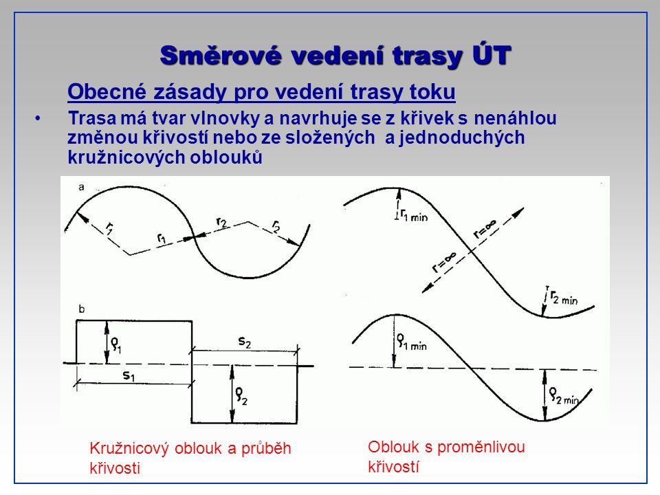 Směrové vedení trasy ÚT