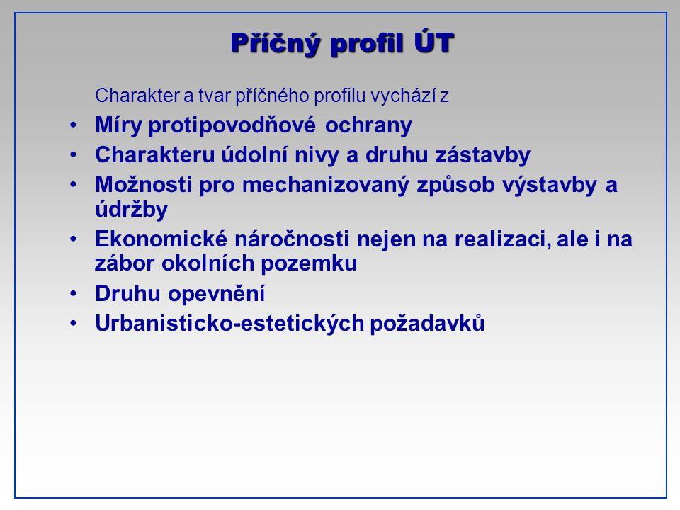 Příčný profil ÚT CTU-Prague