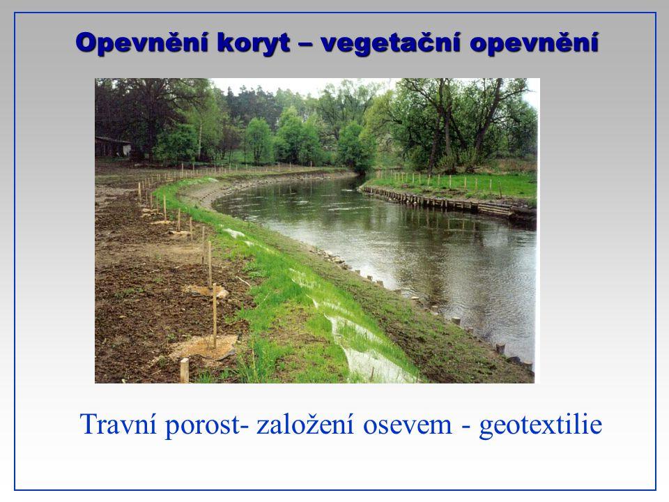 Opevnění koryt – vegetační opevnění