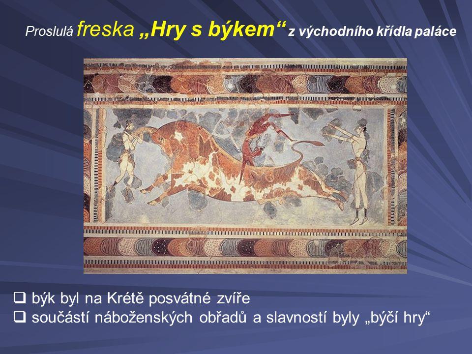 býk byl na Krétě posvátné zvíře