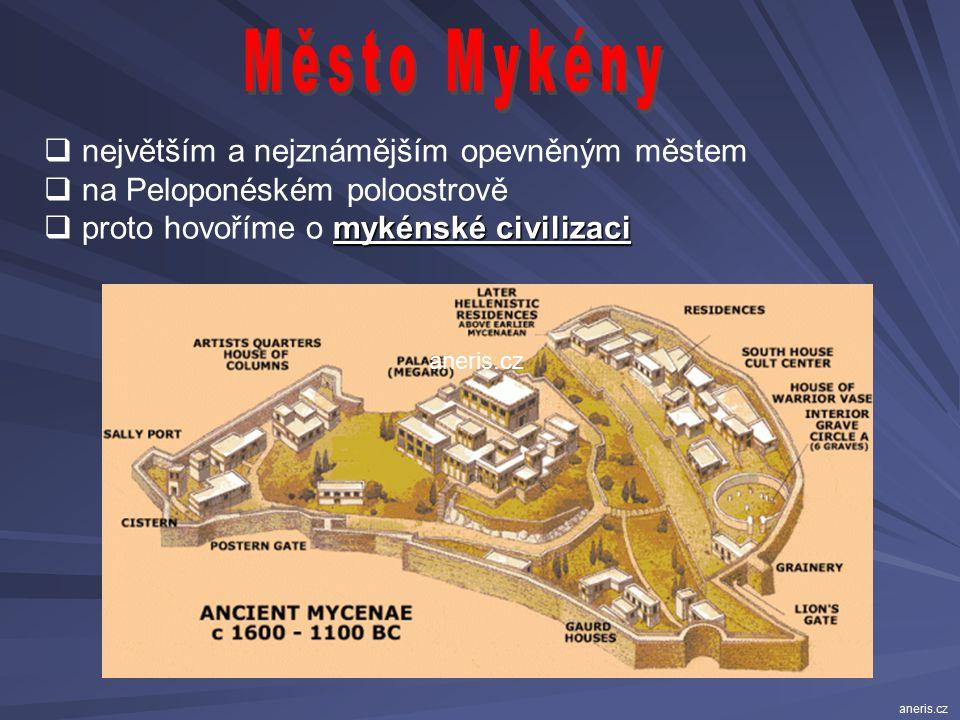 Město Mykény největším a nejznámějším opevněným městem