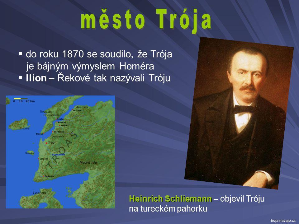město Trója do roku 1870 se soudilo, že Trója