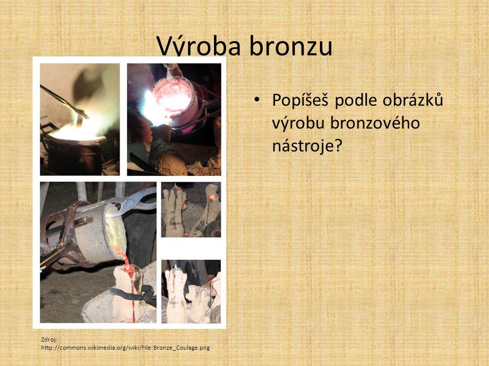 Výroba bronzu Popíšeš podle obrázků výrobu bronzového nástroje