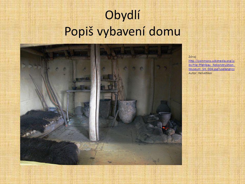 Obydlí Popiš vybavení domu