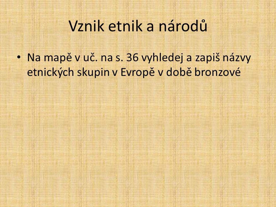 Vznik etnik a národů Na mapě v uč. na s.