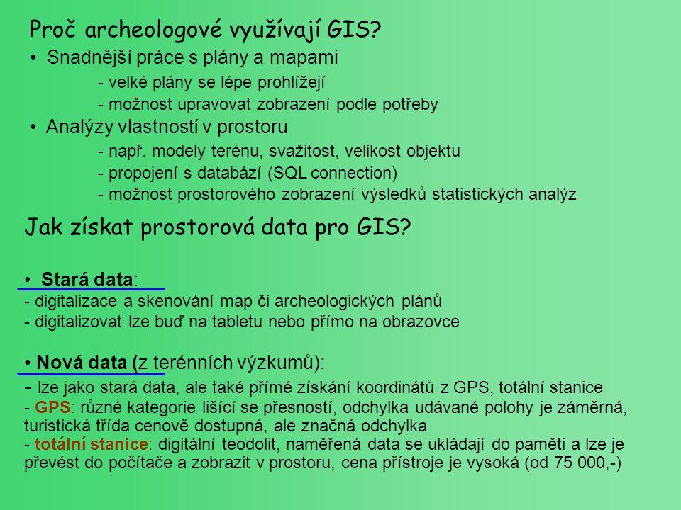 Proč archeologové využívají GIS