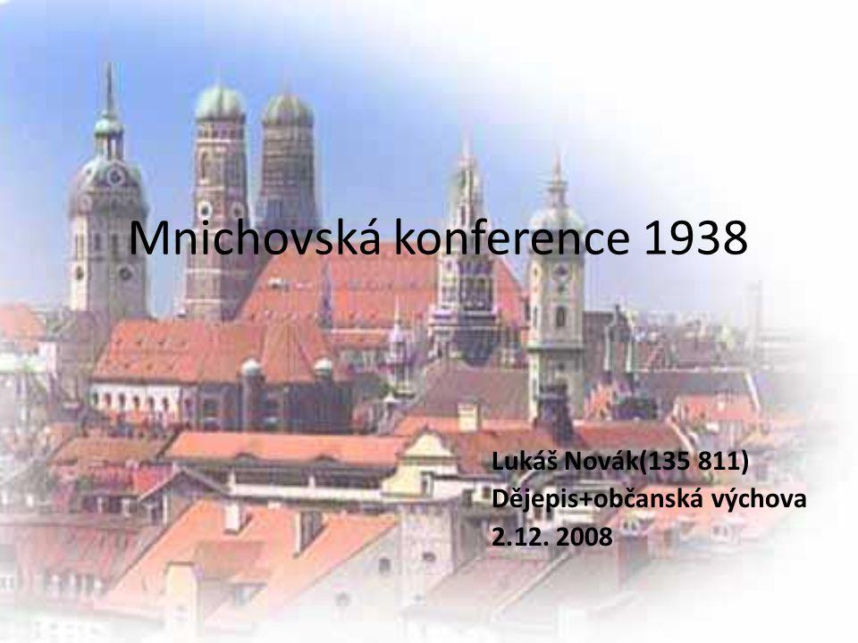 Mnichovská konference 1938