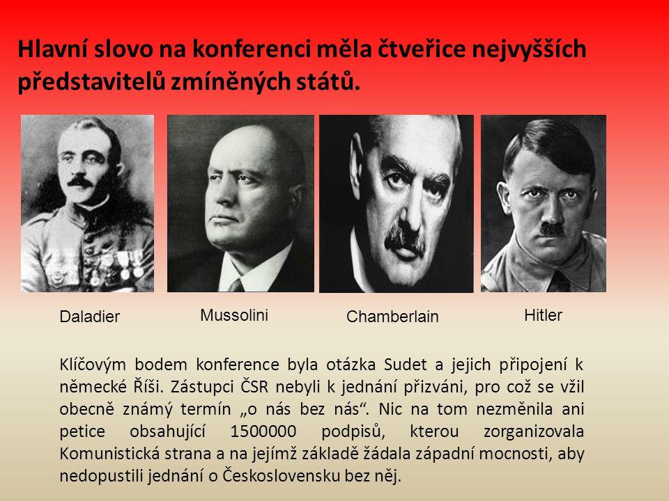 Hlavní slovo na konferenci měla čtveřice nejvyšších představitelů zmíněných států.