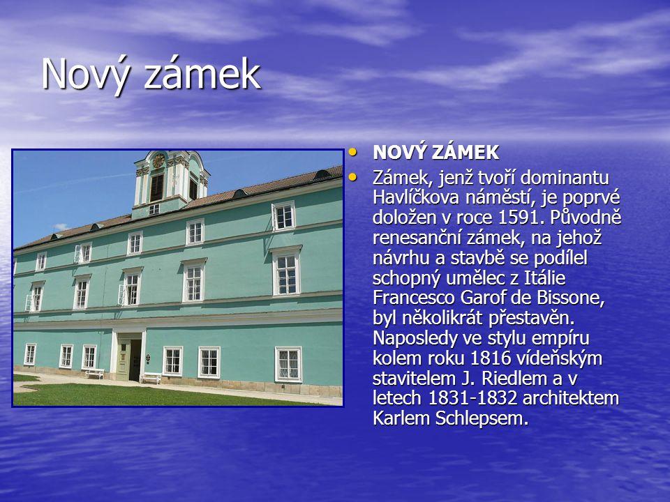 Nový zámek NOVÝ ZÁMEK.