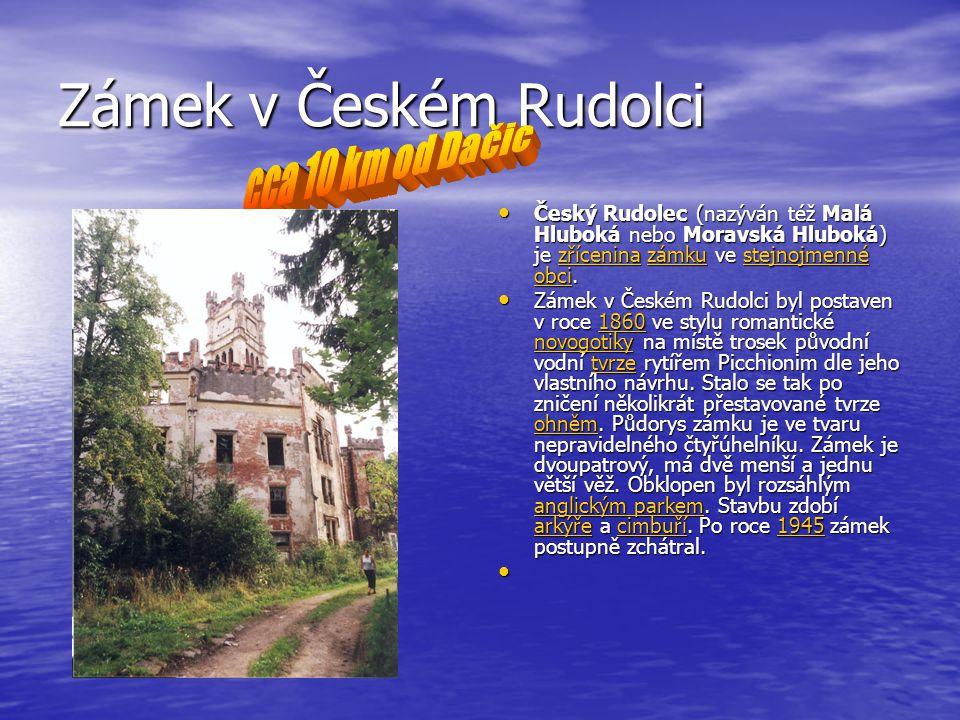 Zámek v Českém Rudolci cca 10 km od Dačic