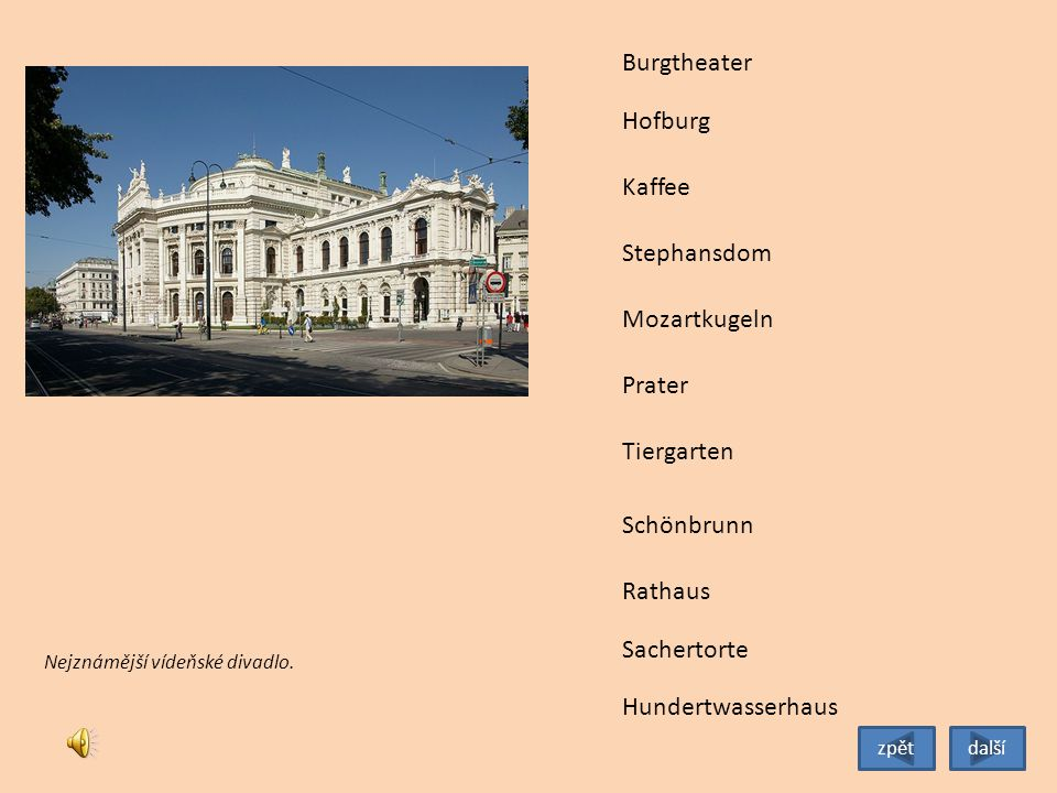Burgtheater Hofburg Kaffee Stephansdom Mozartkugeln Prater Tiergarten