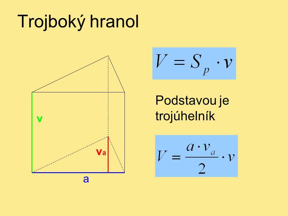 Trojboký hranol a v va Podstavou je trojúhelník