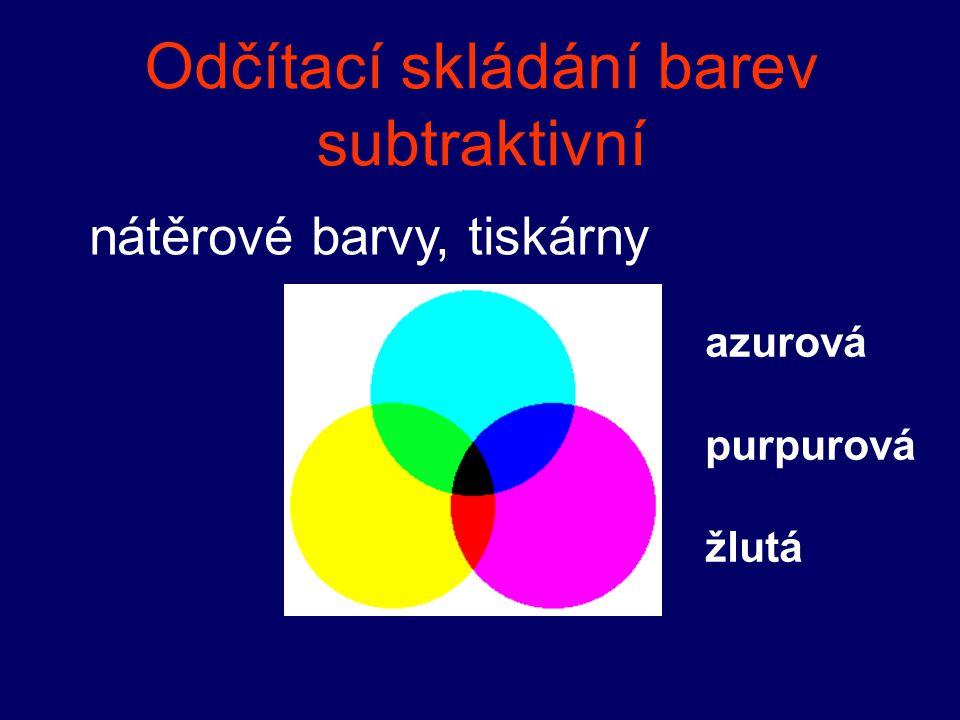 Odčítací skládání barev subtraktivní