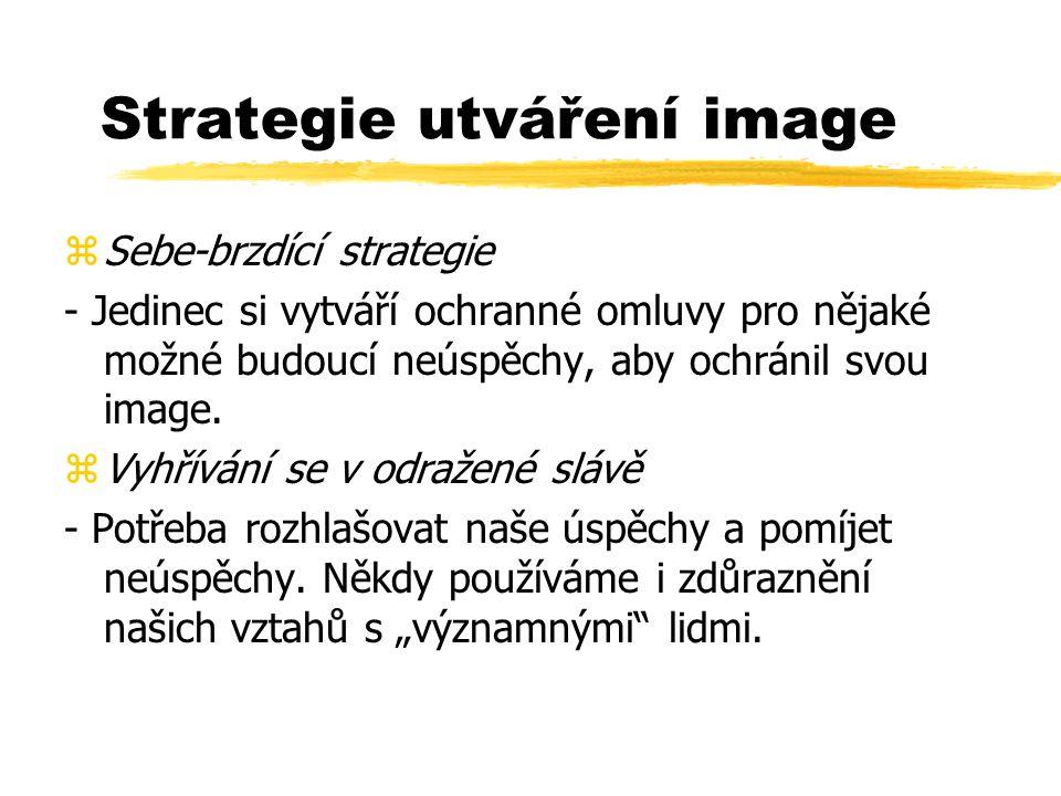 Strategie utváření image