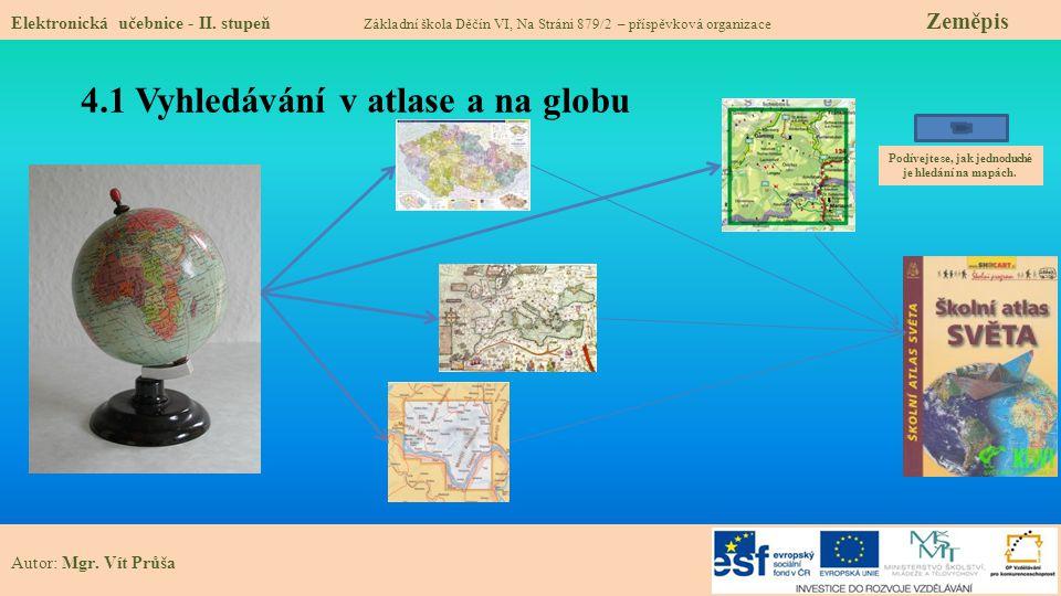 4.1 Vyhledávání v atlase a na globu