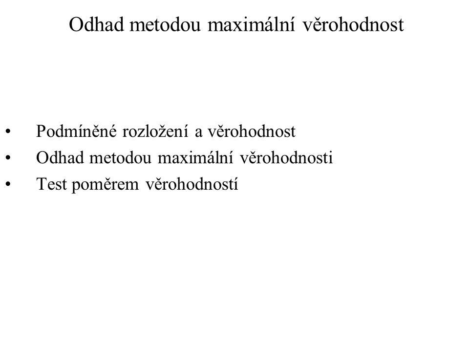 Odhad metodou maximální věrohodnost