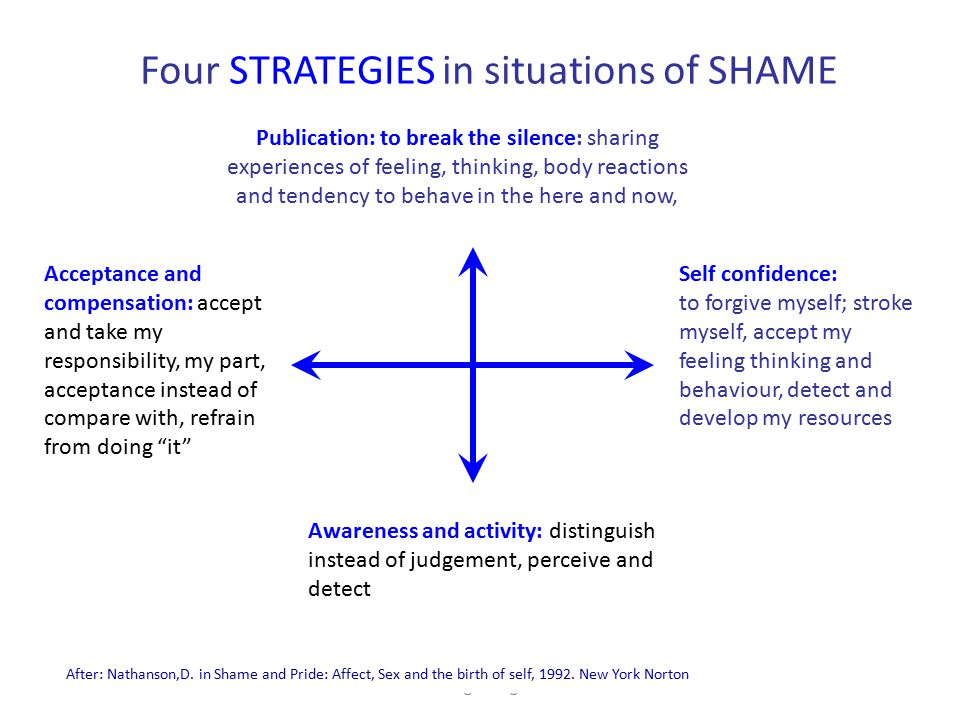 Four STRATEGIES in situations of SHAME