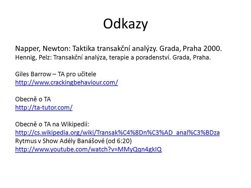Odkazy Napper, Newton: Taktika transakční analýzy. Grada, Praha 2000.