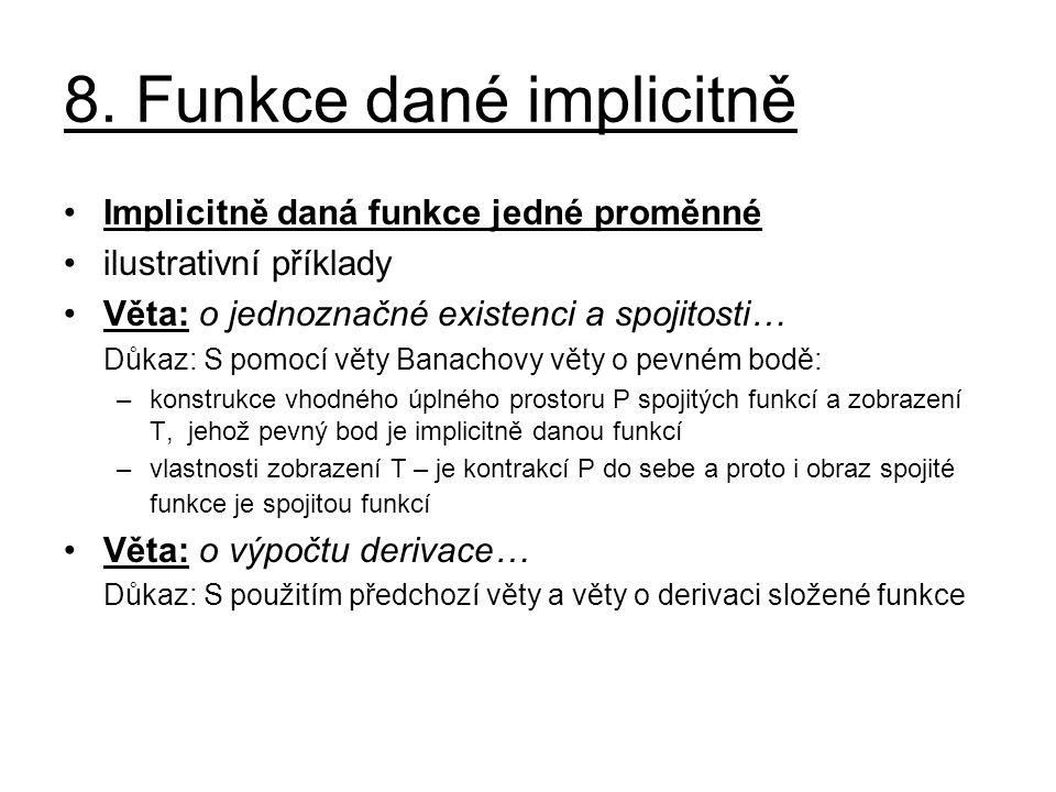 8. Funkce dané implicitně