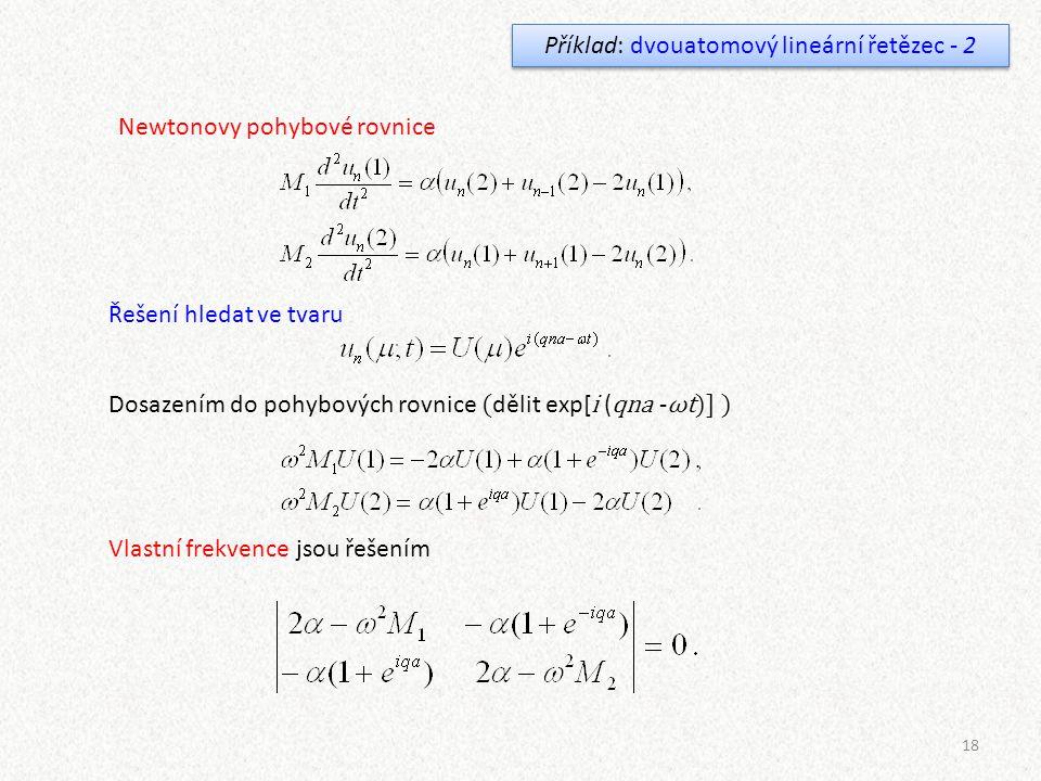 Příklad: dvouatomový lineární řetězec - 2