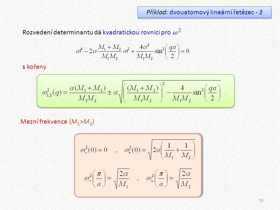 Příklad: dvouatomový lineární řetězec - 3