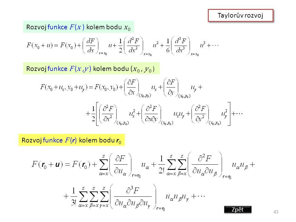 Rozvoj funkce F (x ) kolem bodu x 0