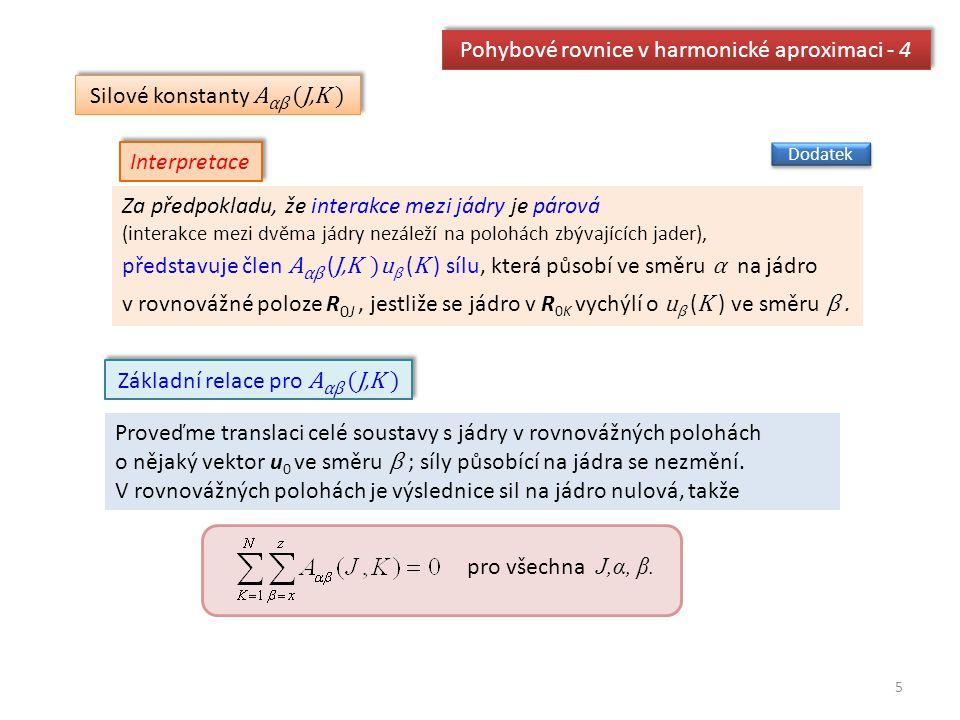 Pohybové rovnice v harmonické aproximaci - 4
