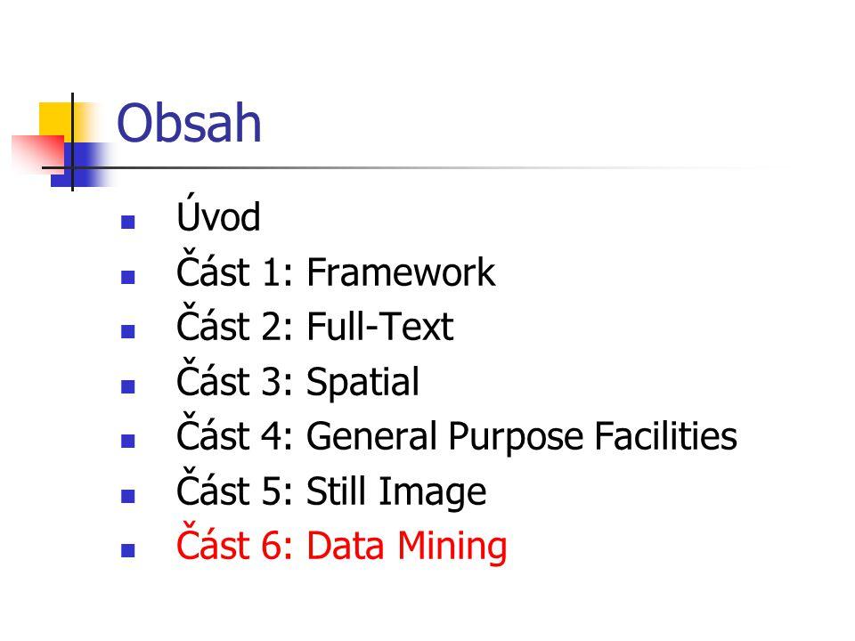 Obsah Úvod Část 1: Framework Část 2: Full-Text Část 3: Spatial
