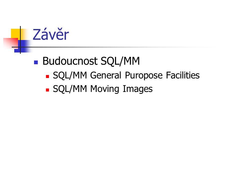 Závěr Budoucnost SQL/MM SQL/MM General Puropose Facilities