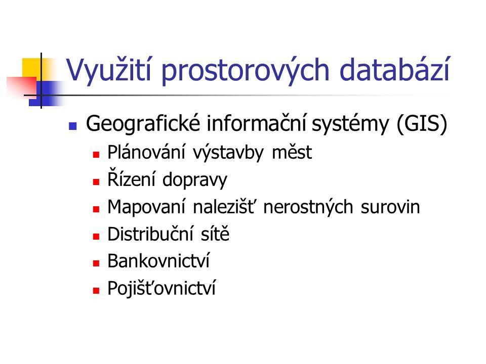 Využití prostorových databází