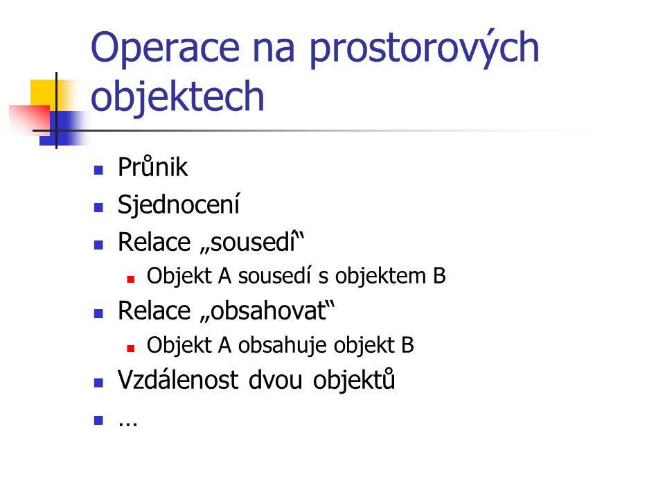 Operace na prostorových objektech