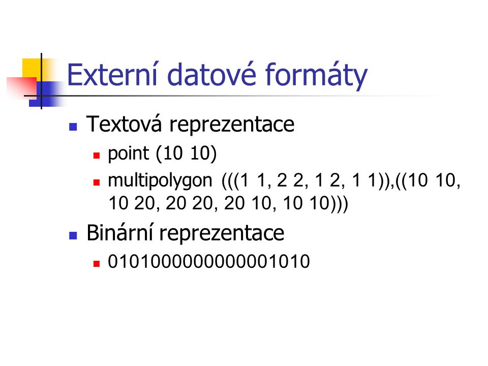 Externí datové formáty
