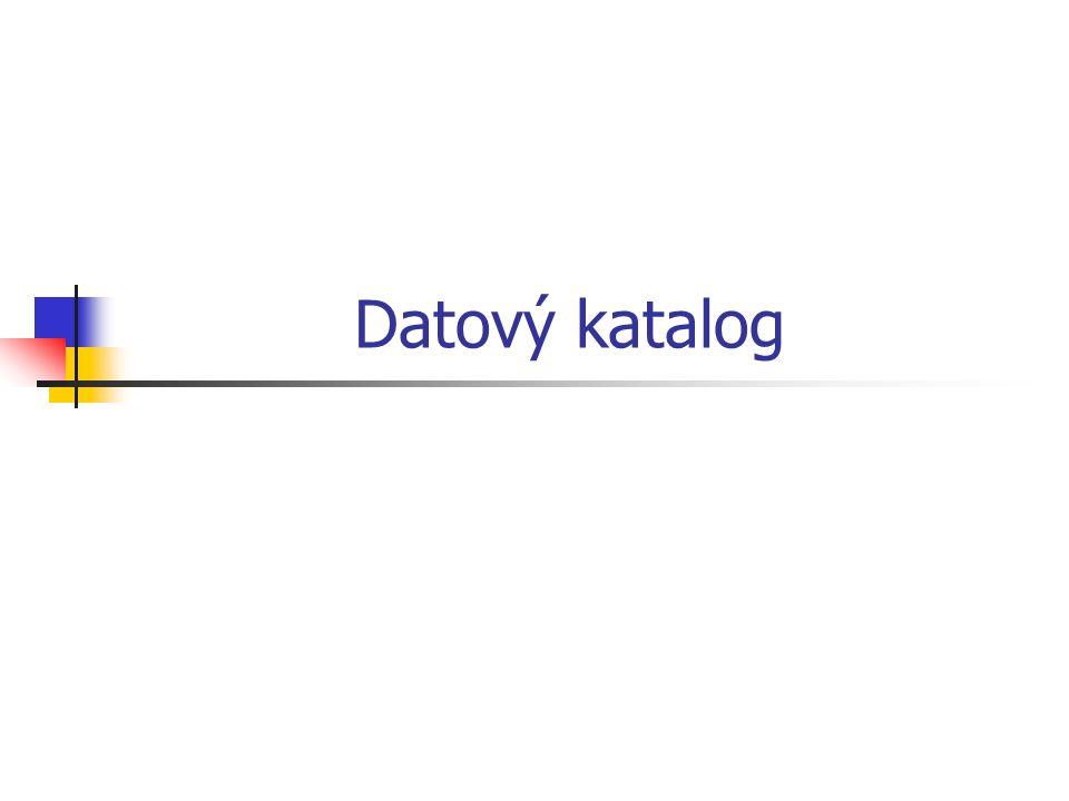 Datový katalog