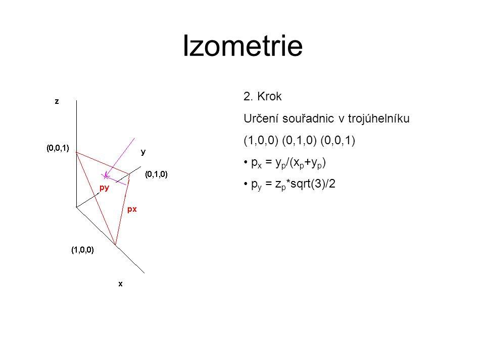 Izometrie 2. Krok Určení souřadnic v trojúhelníku